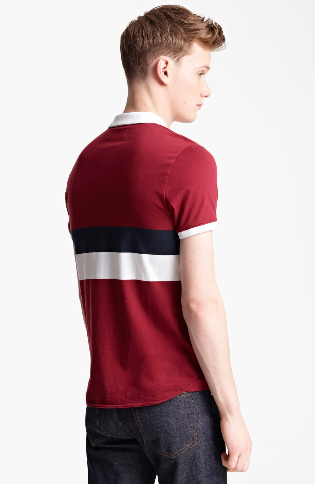Alternate Image 2  - Shipley & Halmos 'Broome' Stripe Jersey Polo