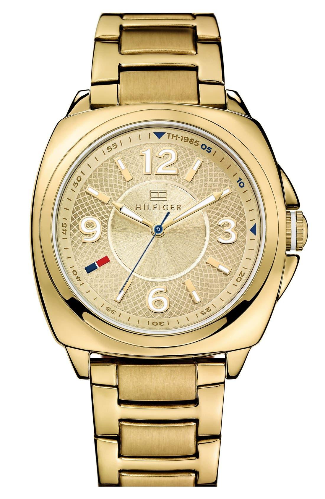 Alternate Image 1 Selected - Tommy Hilfiger Cushion Case Bracelet Watch, 38mm