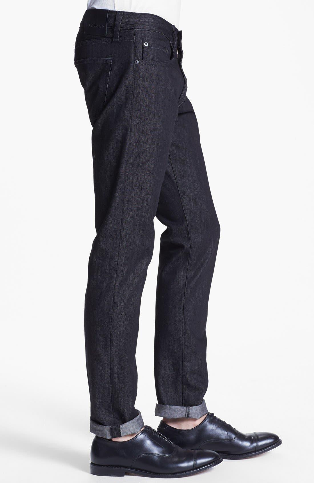 Alternate Image 3  - J Brand 'Tyler' Slim Fit Jeans (Black Raw)