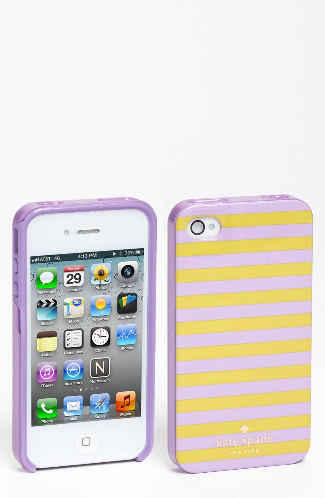 Alternate Image 1 Selected - kate spade new york 'petula stripe' iPhone 5 & 5S case