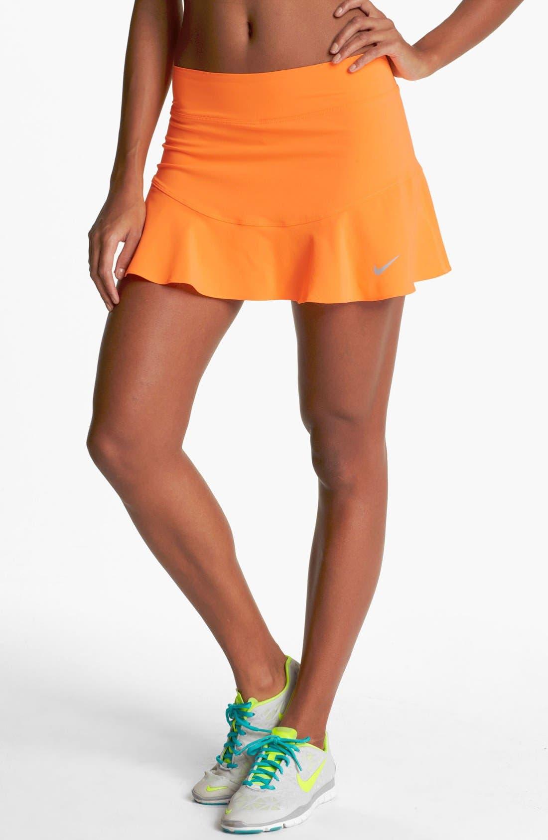 Alternate Image 1 Selected - Nike Flouncy Woven Tennis Skirt