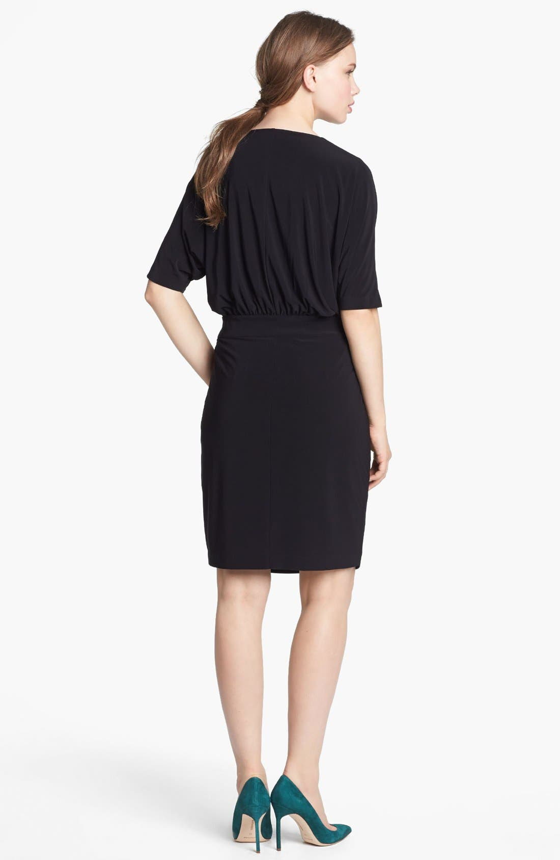 Alternate Image 2  - Vince Camuto Dolman Sleeve Faux Wrap Dress (Online Only)
