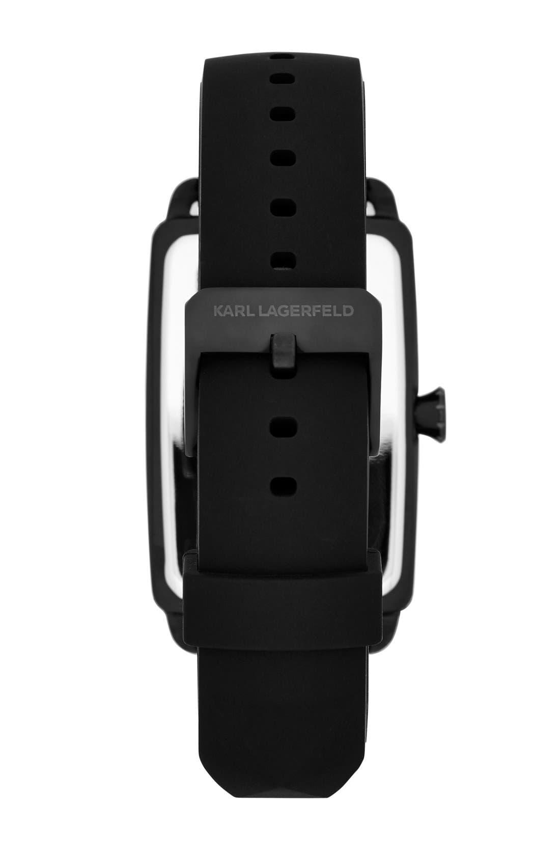Alternate Image 2  - KARL LAGERFELD 'Kourbe' Rectangular Watch, 32mm x 48mm