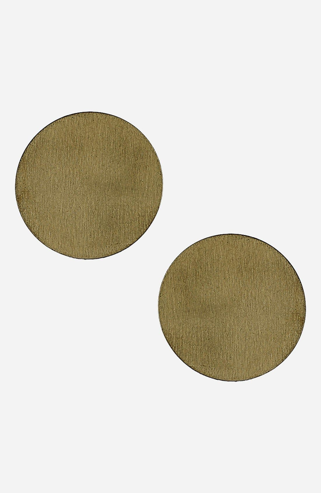 Alternate Image 1 Selected - Topshop Small Goldtone Disc Earrings