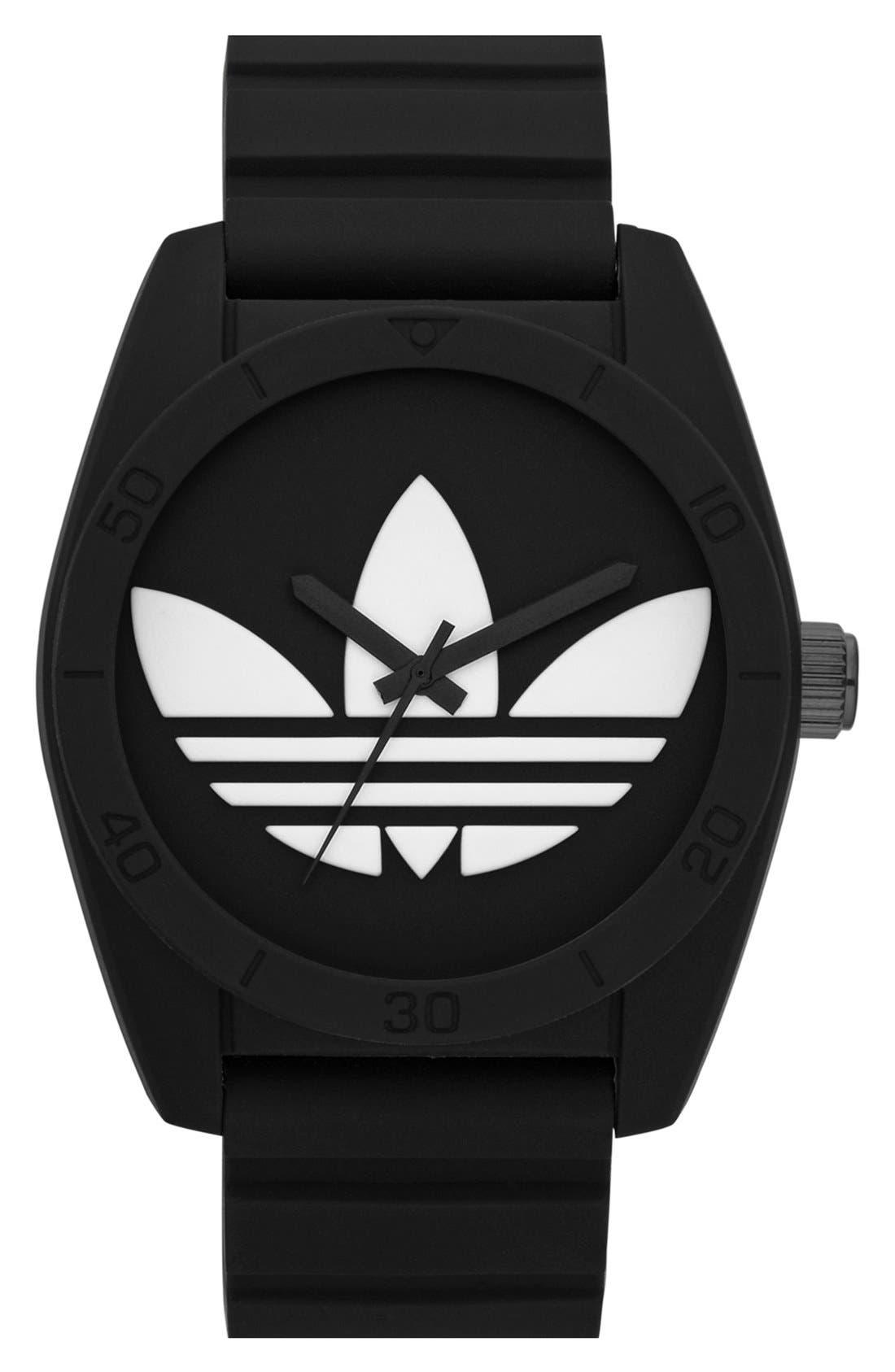 Main Image - adidas Originals 'Santiago' Silicone Strap Watch, 42mm