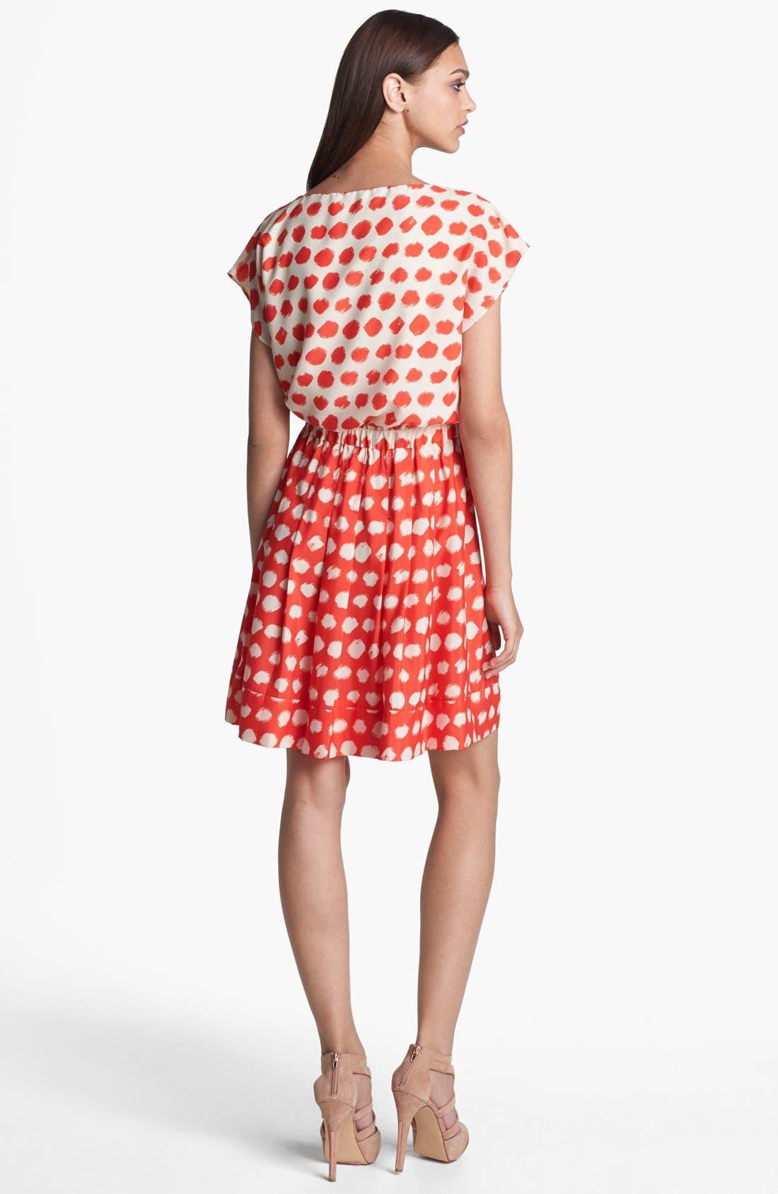 Alternate Image 2  - Eliza J Print Blouson Dress