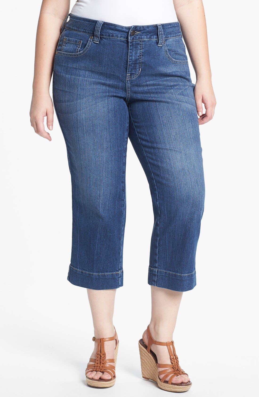Alternate Image 1 Selected - Jag Jeans 'Canyon' Crop Jeans (Plus Size)