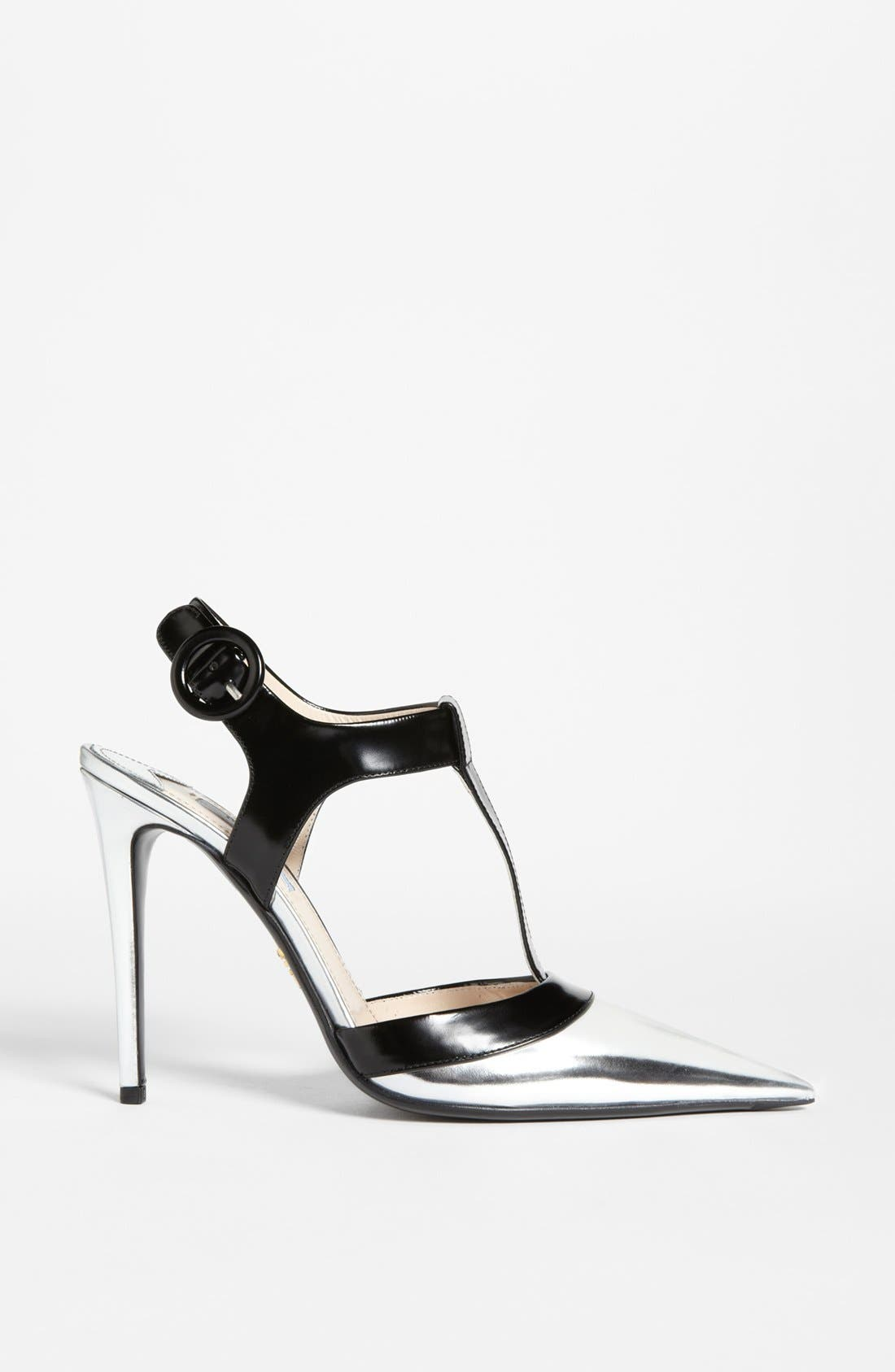 Alternate Image 4  - Prada Bicolor T-Strap Pump