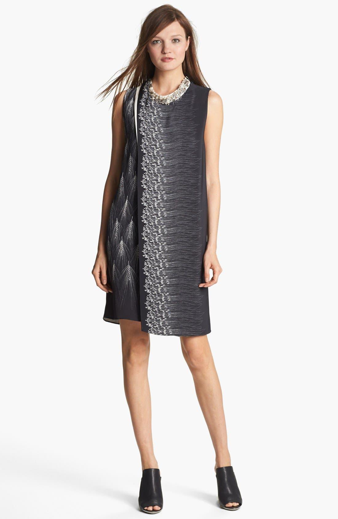 Alternate Image 1 Selected - 3.1 Phillip Lim Mix Print Layered Silk Dress