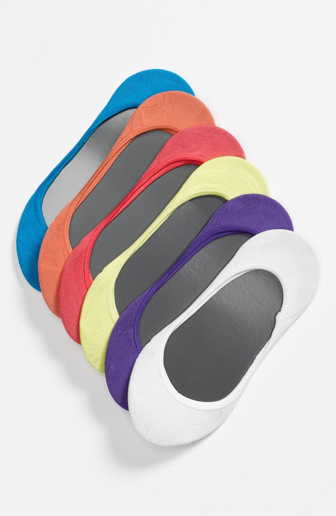 Main Image - Nordstrom 6-Pack No-Show Liner Socks