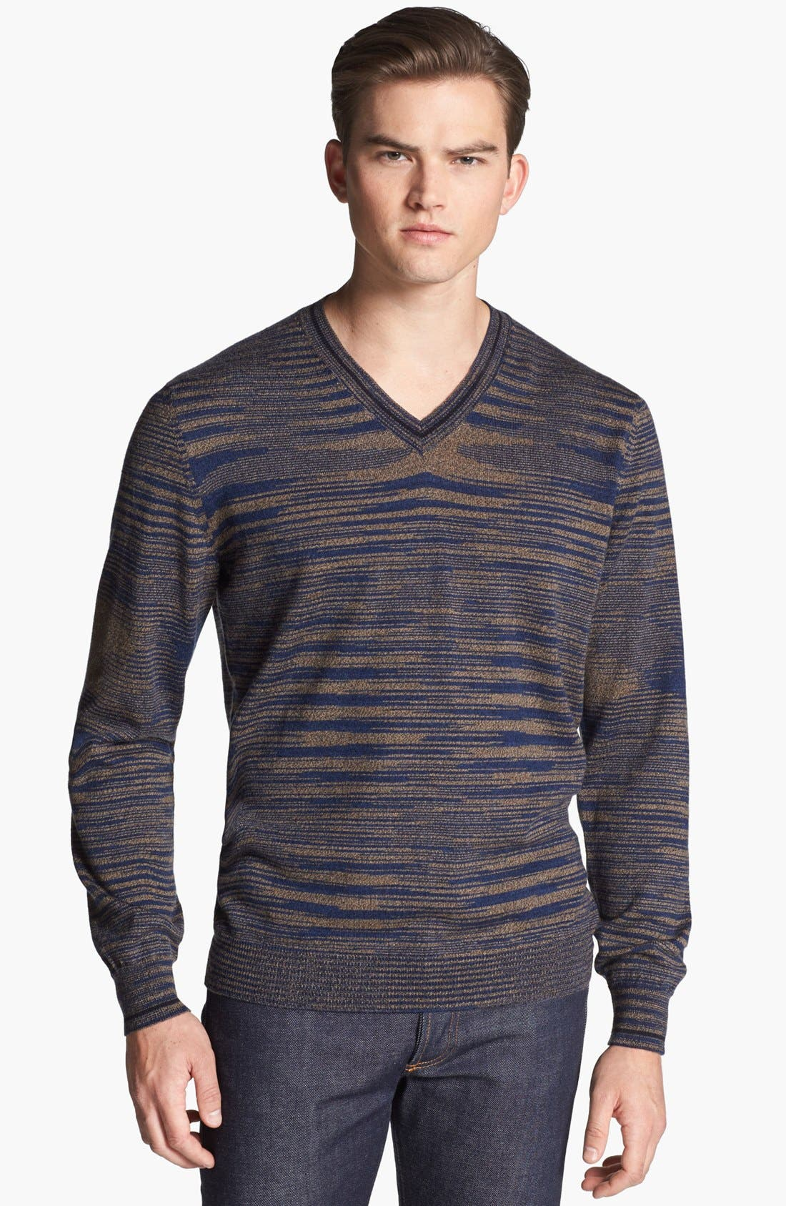 Alternate Image 1 Selected - Missoni Space Dyed Wool V-Neck Sweater