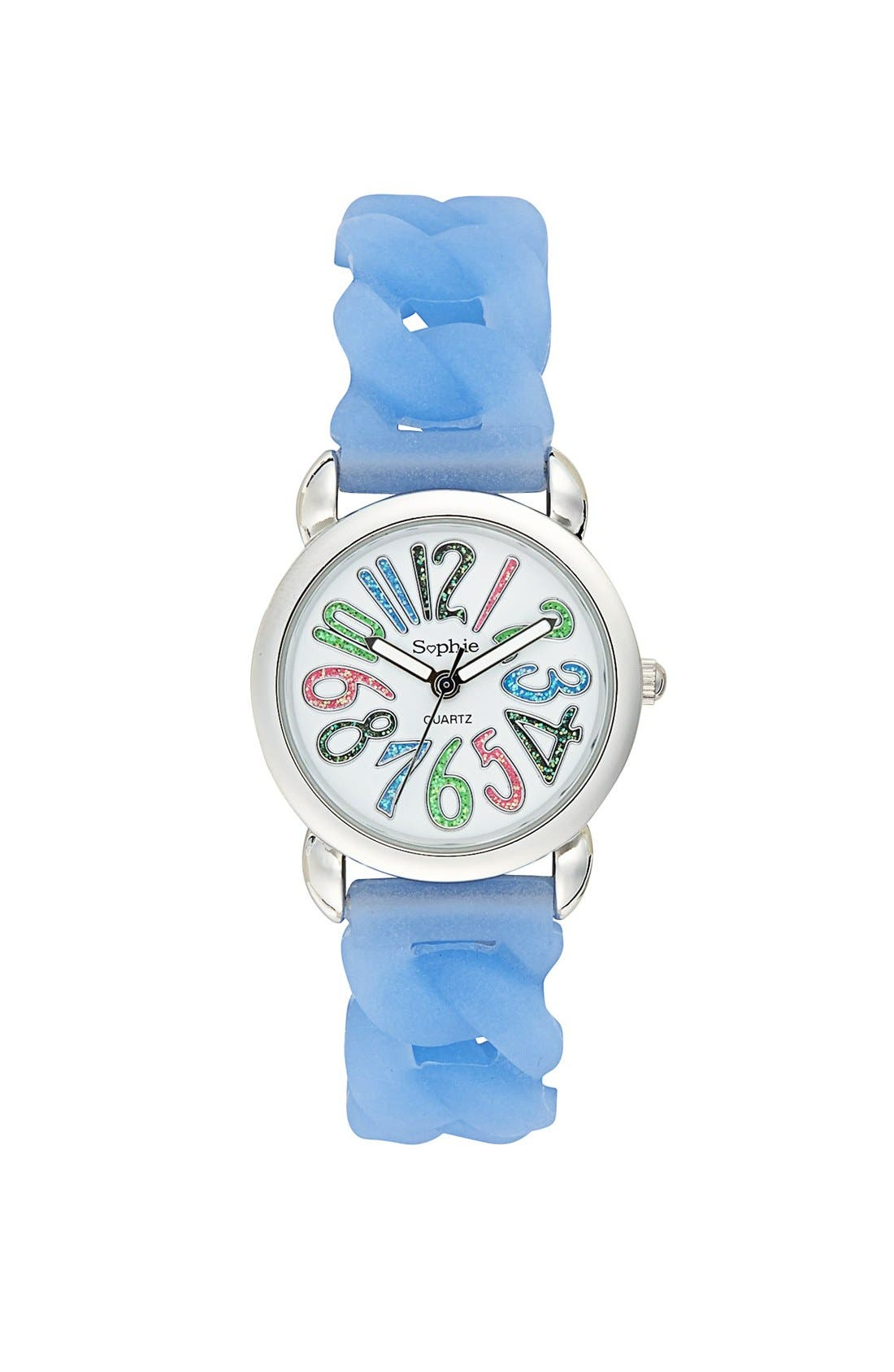 Alternate Image 1 Selected - Titanium Rubber Stretch Watch, 34mm (Girls)