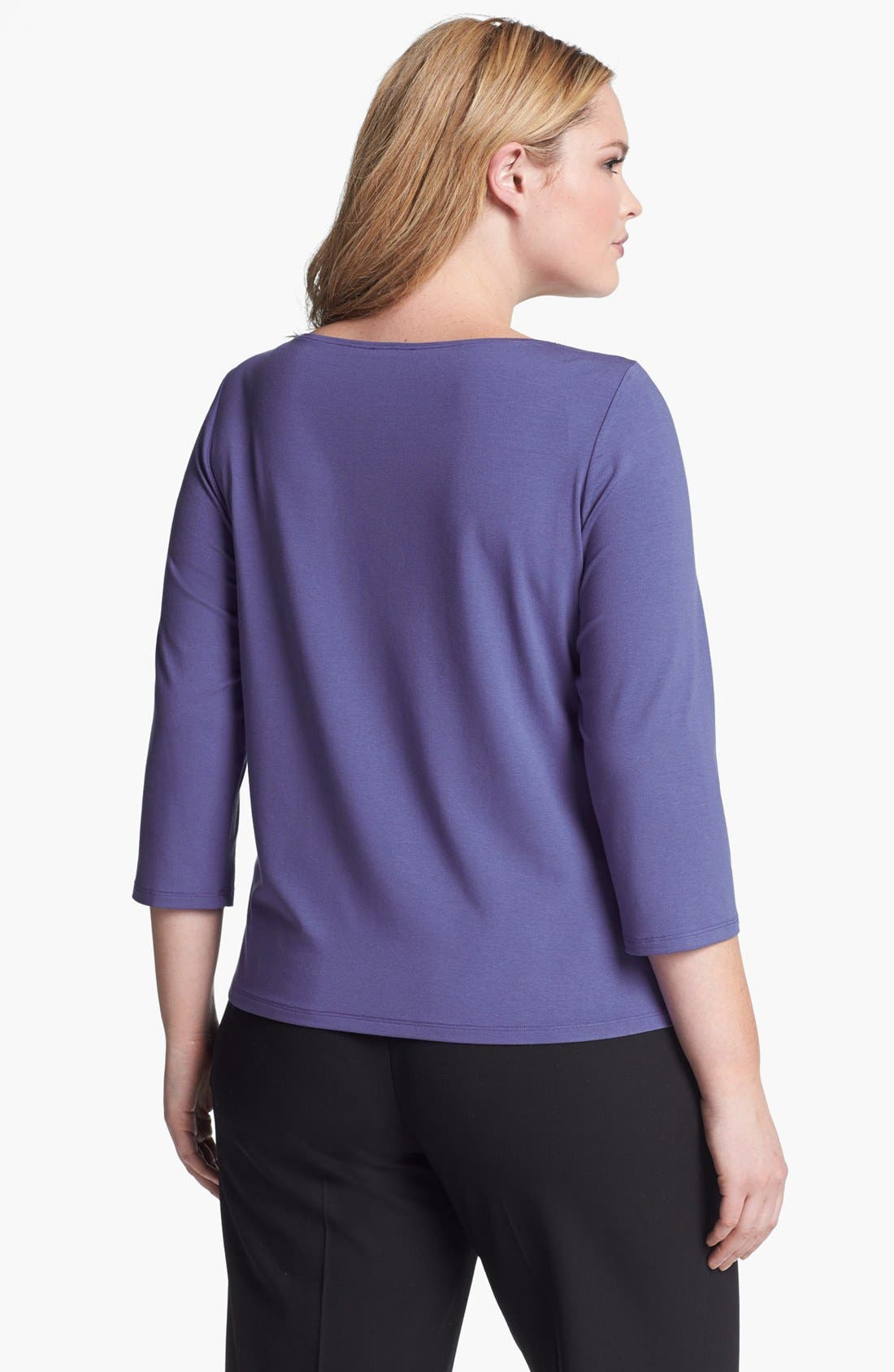 Alternate Image 2  - Eileen Fisher Ballet Neck Top (Plus Size)