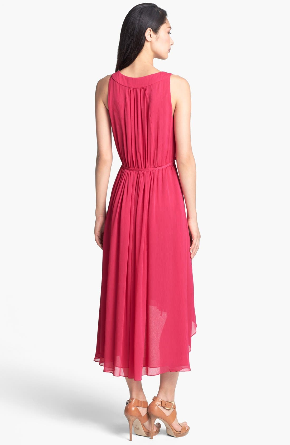 Alternate Image 2  - Adrianna Papell High/Low Crinkled Chiffon Dress
