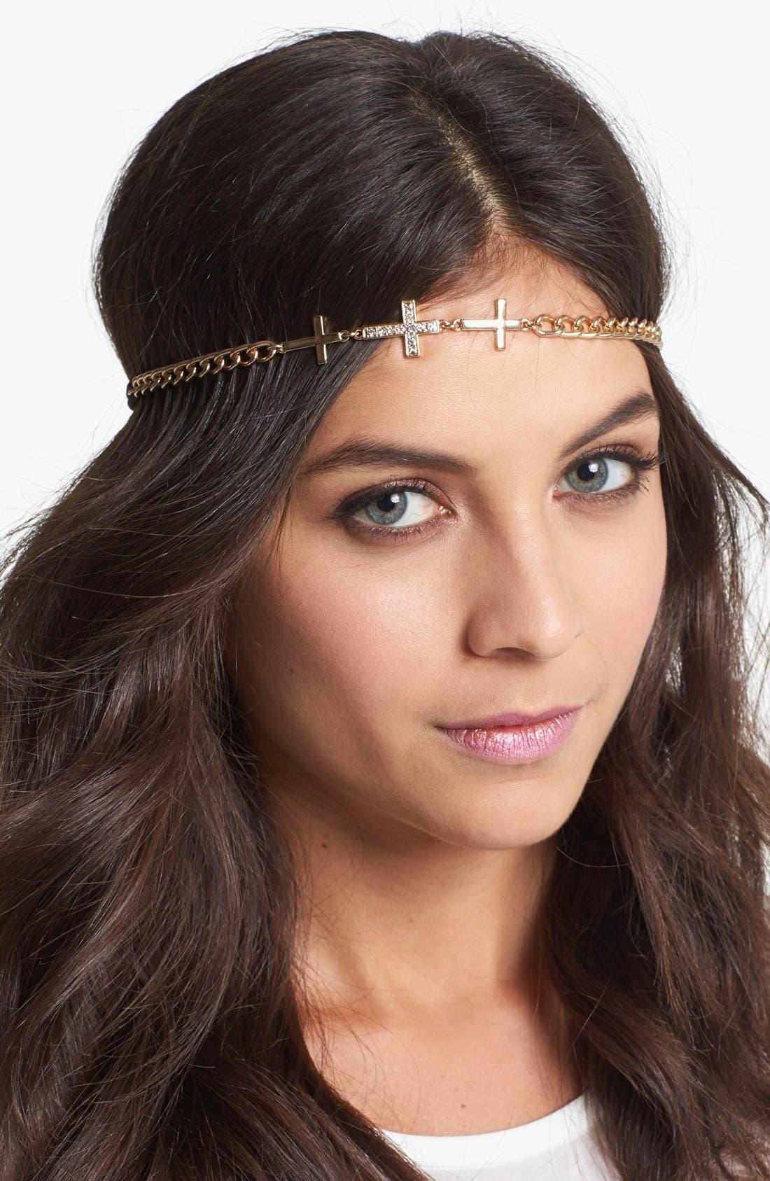 Alternate Image 1 Selected - Tasha 'Cross' Chain Head Wrap
