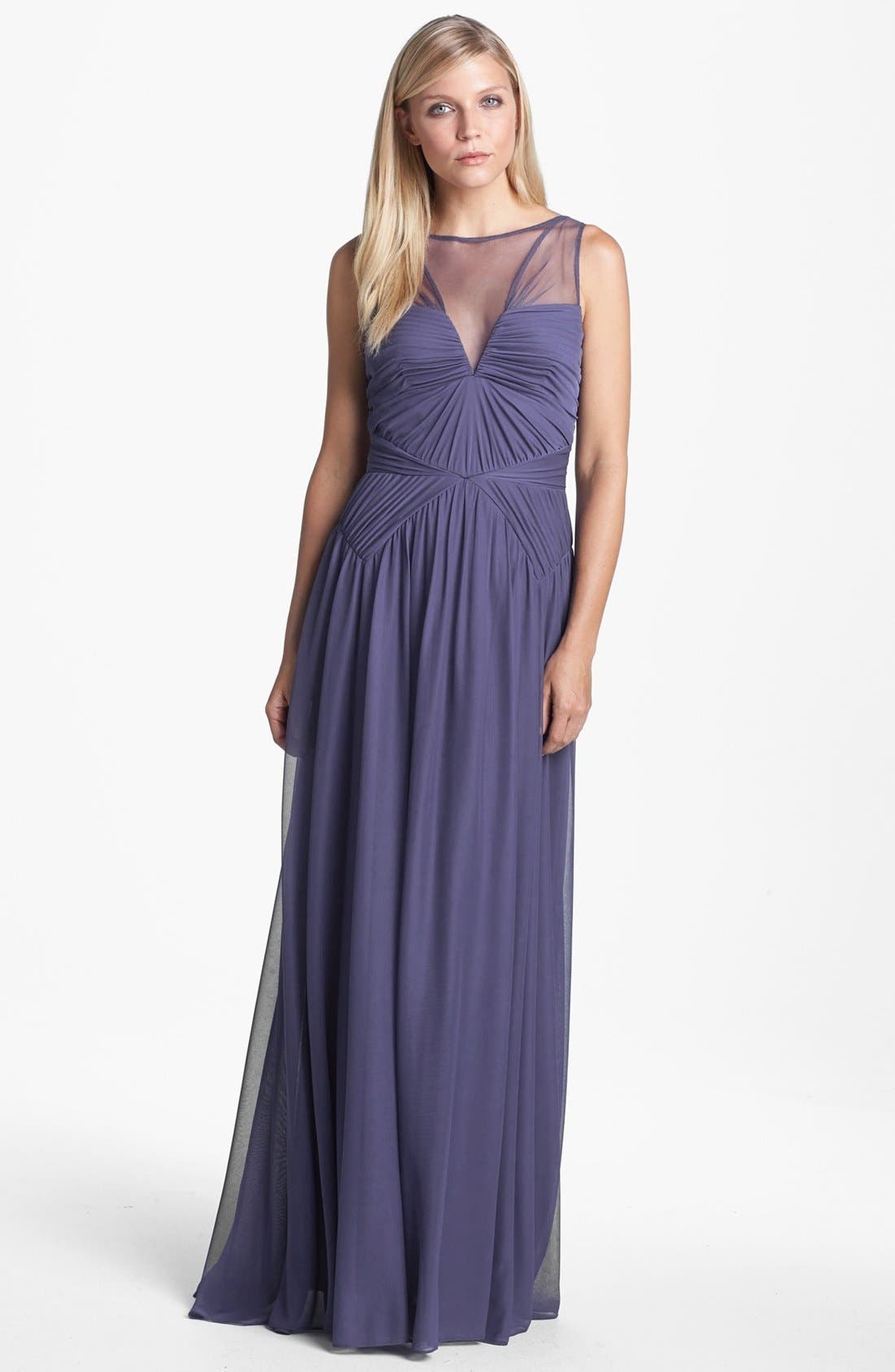 Alternate Image 1 Selected - Adrianna Papell Stretch Tulle Gown