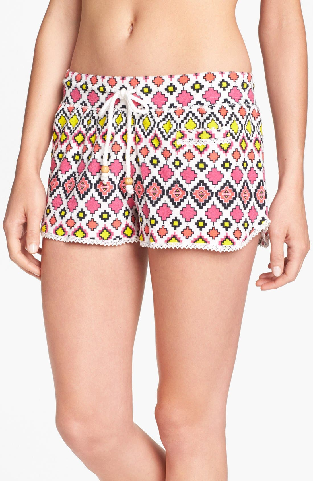 Main Image - kensie 'Electric Avenue' Terry Boxer Shorts