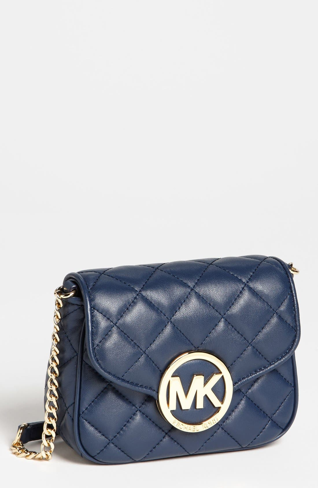 Alternate Image 1 Selected - MICHAEL Michael Kors 'Fulton - Small' Quilted Leather Crossbody Bag
