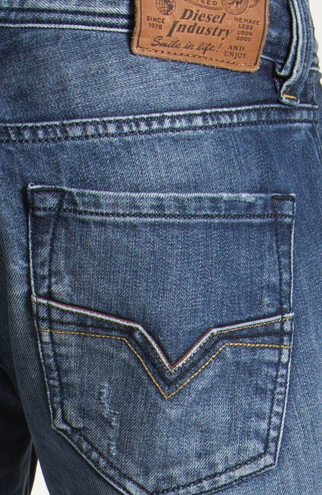 Alternate Image 4  - DIESEL® 'Larkee' Straight Leg Jeans (0805Q)