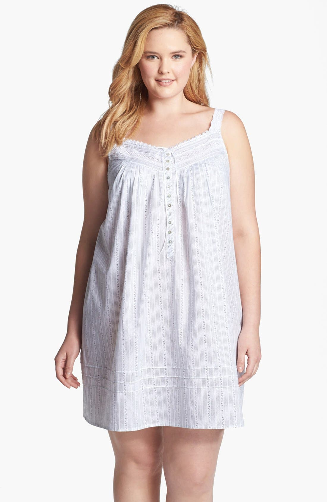 Alternate Image 1 Selected - Eileen West 'Moonlit Shores' Short Nightgown (Plus Size)
