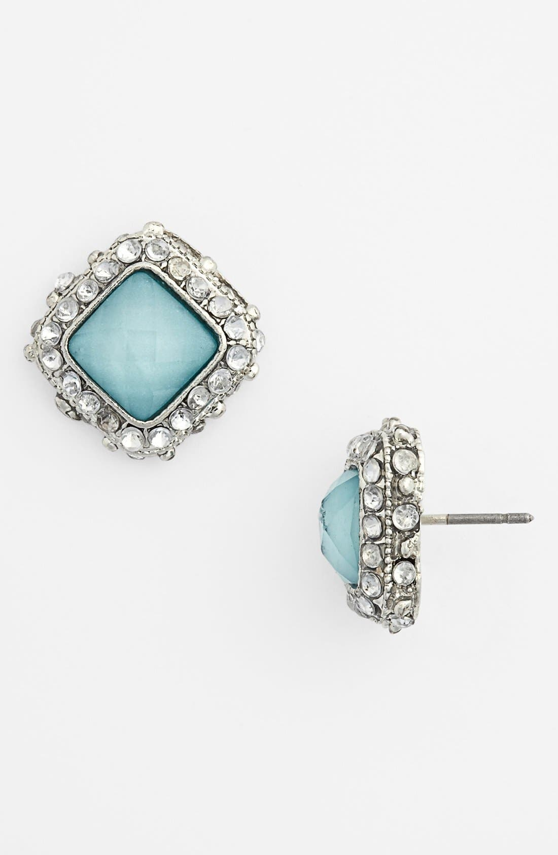 Alternate Image 1 Selected - BP. Rhinestone Frame Post Earrings (Juniors)
