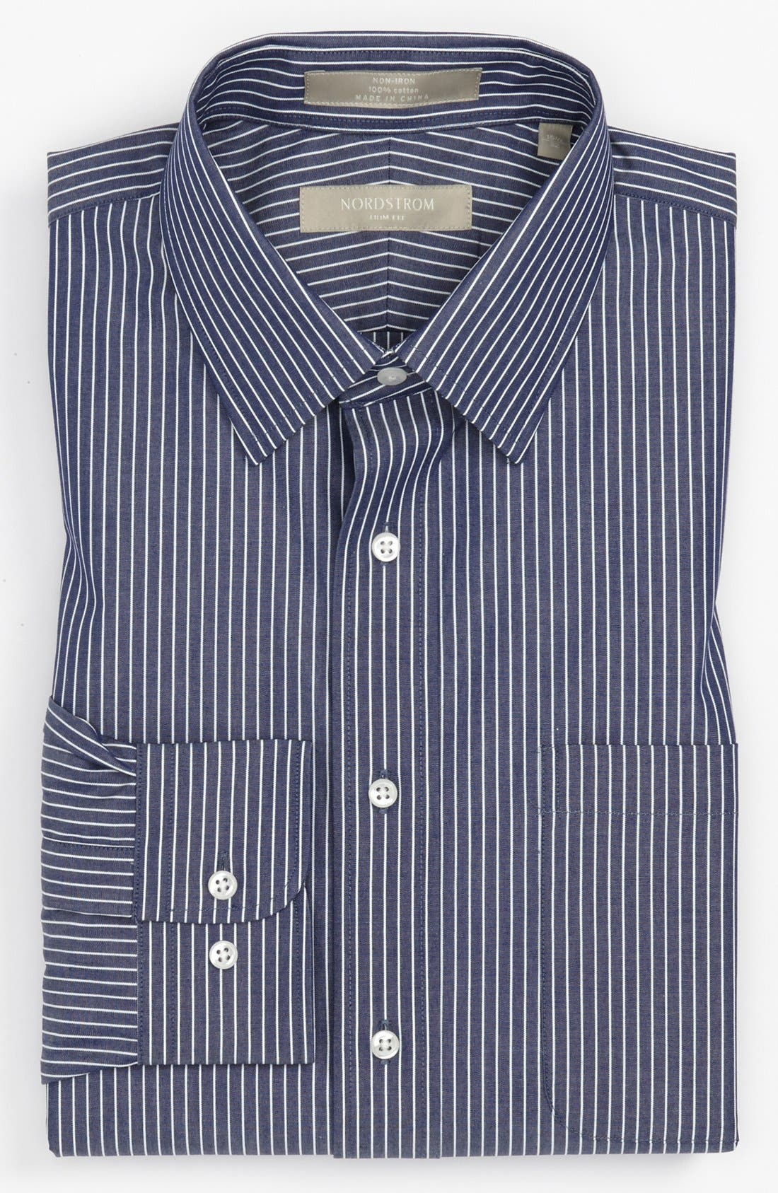 Alternate Image 1 Selected - Nordstrom Trim Fit Non-Iron Dress Shirt