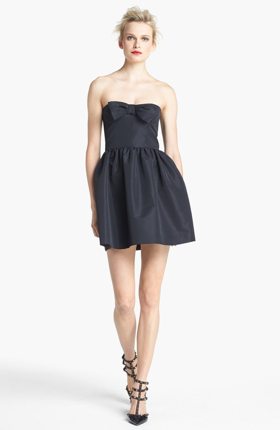 Alternate Image 1 Selected - RED Valentino Strapless Bow Detail Dress