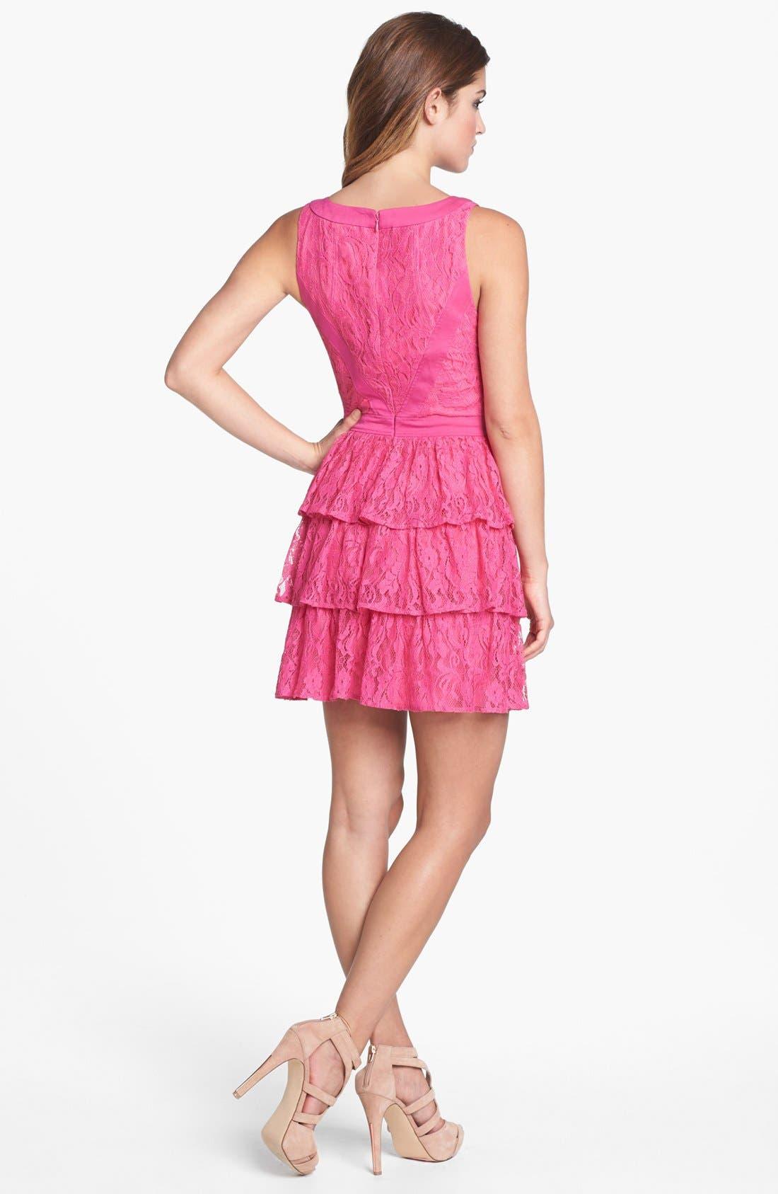 Alternate Image 2  - Keepsake the Label 'Oceans Burning' Tiered Lace Dress