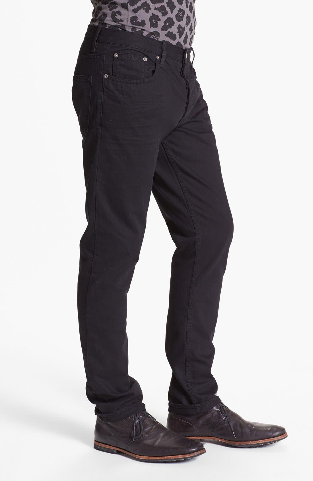Alternate Image 3  - Topman Slim Fit Jeans (Black)