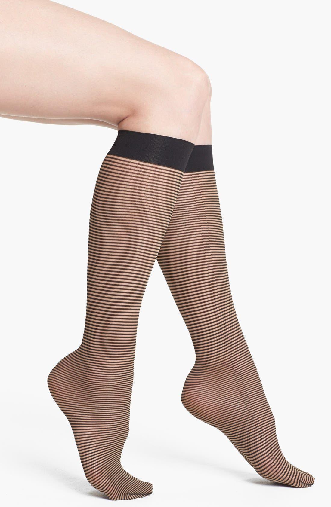 Alternate Image 1 Selected - Wolford 'Rayure' Knee High Socks