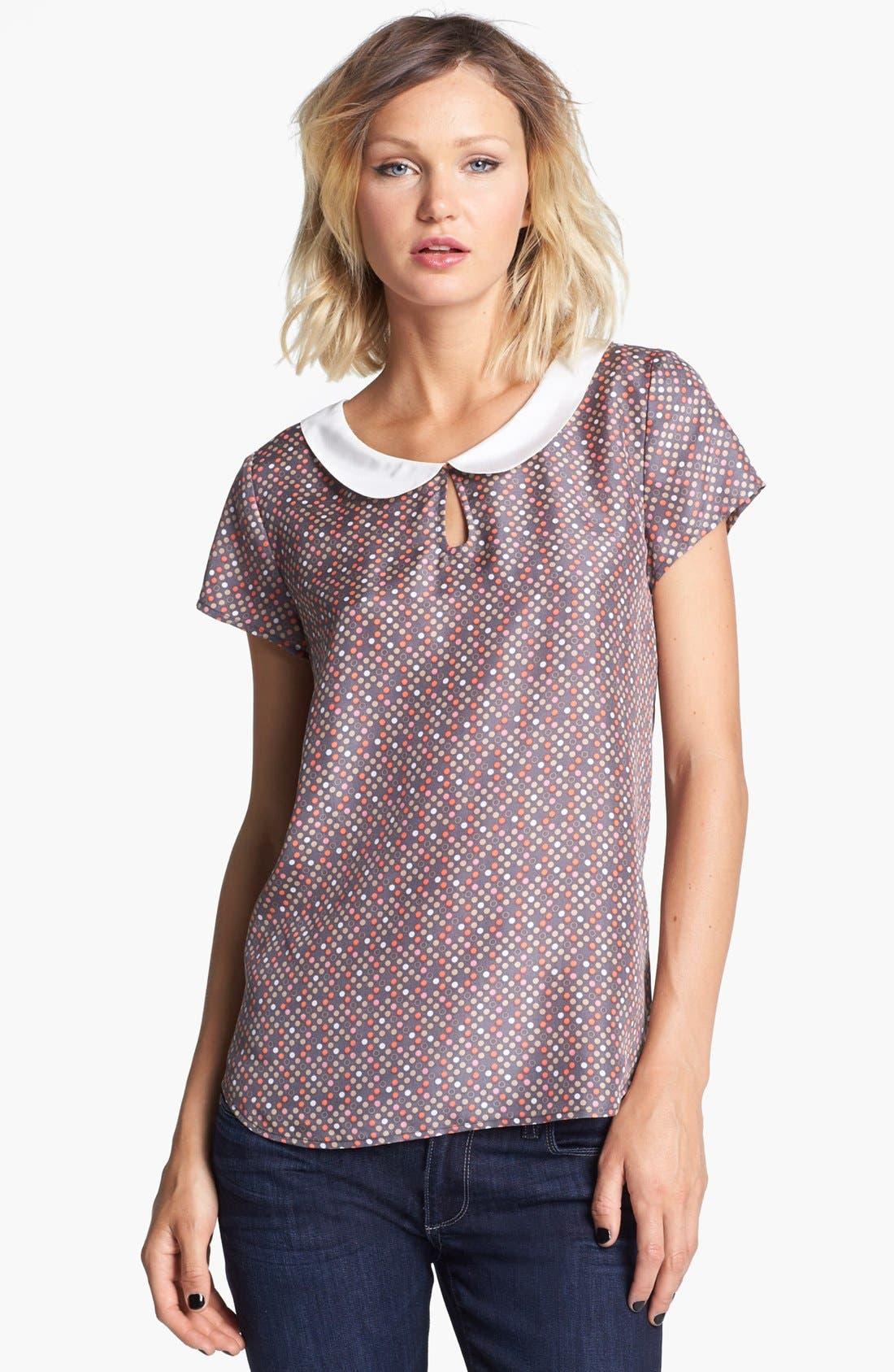 Alternate Image 1 Selected - Hinge® Dot Print Collar Top