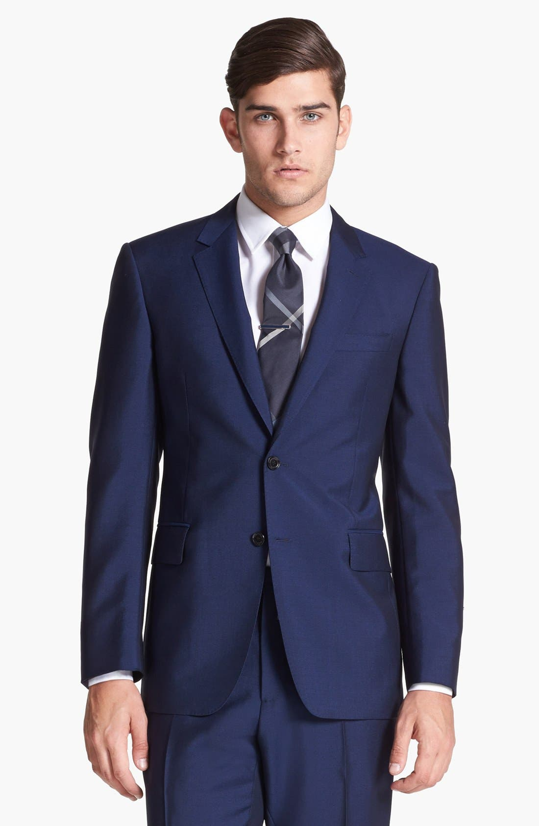 Alternate Image 4  - Burberry London Navy Wool & Mohair Suit