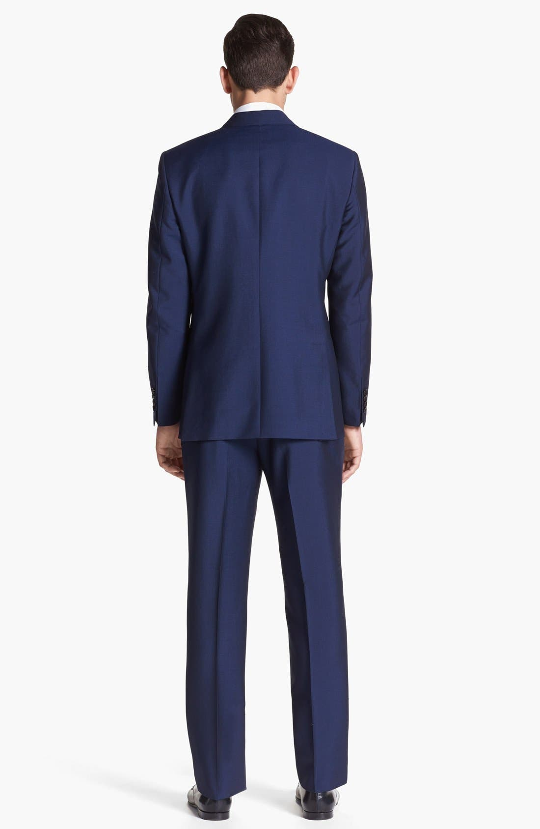 Alternate Image 3  - Burberry London Navy Wool & Mohair Suit