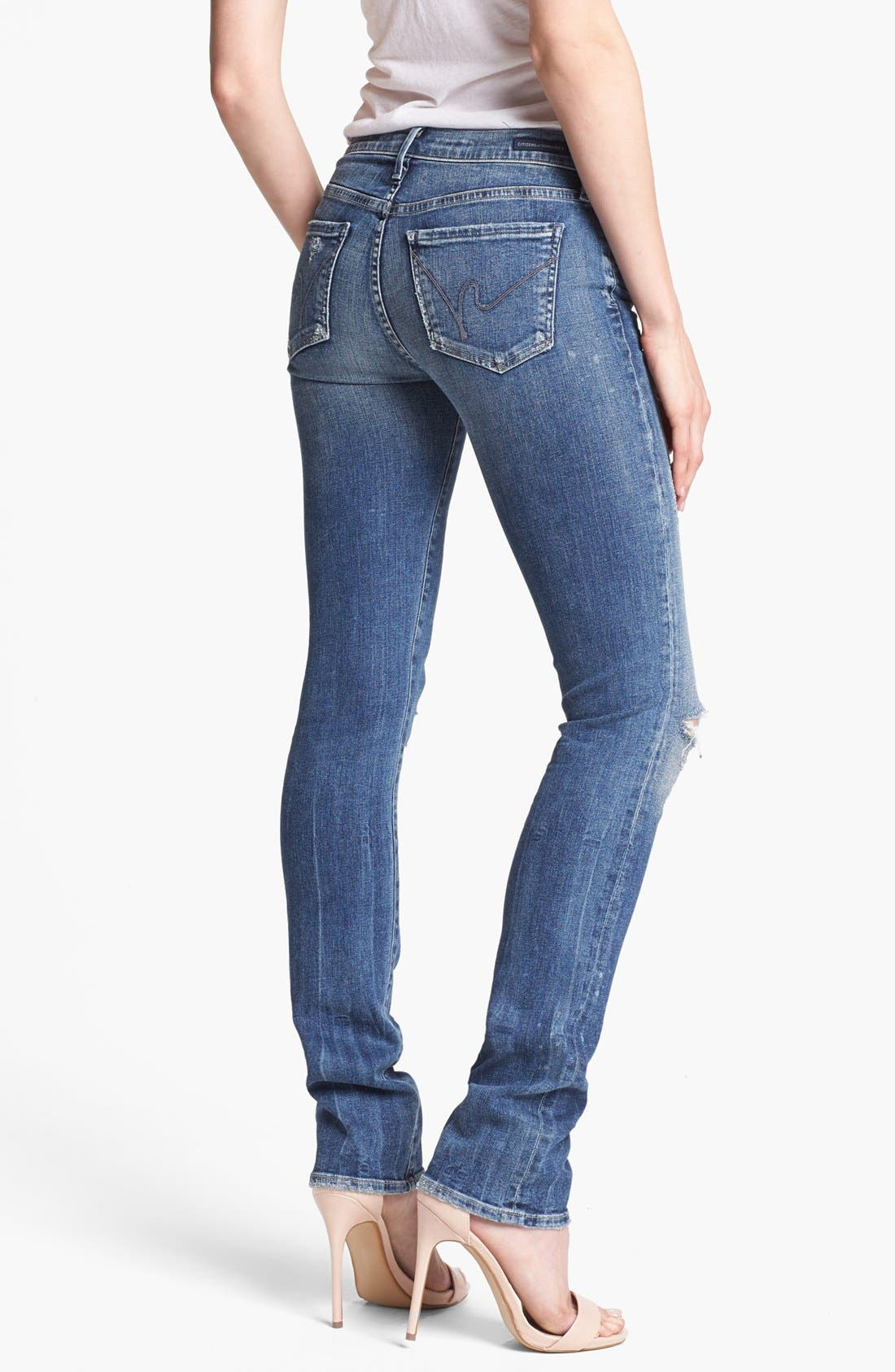 Alternate Image 2  - Citizens of Humanity 'Ava' Distressed Straight Leg Jeans (Indie)