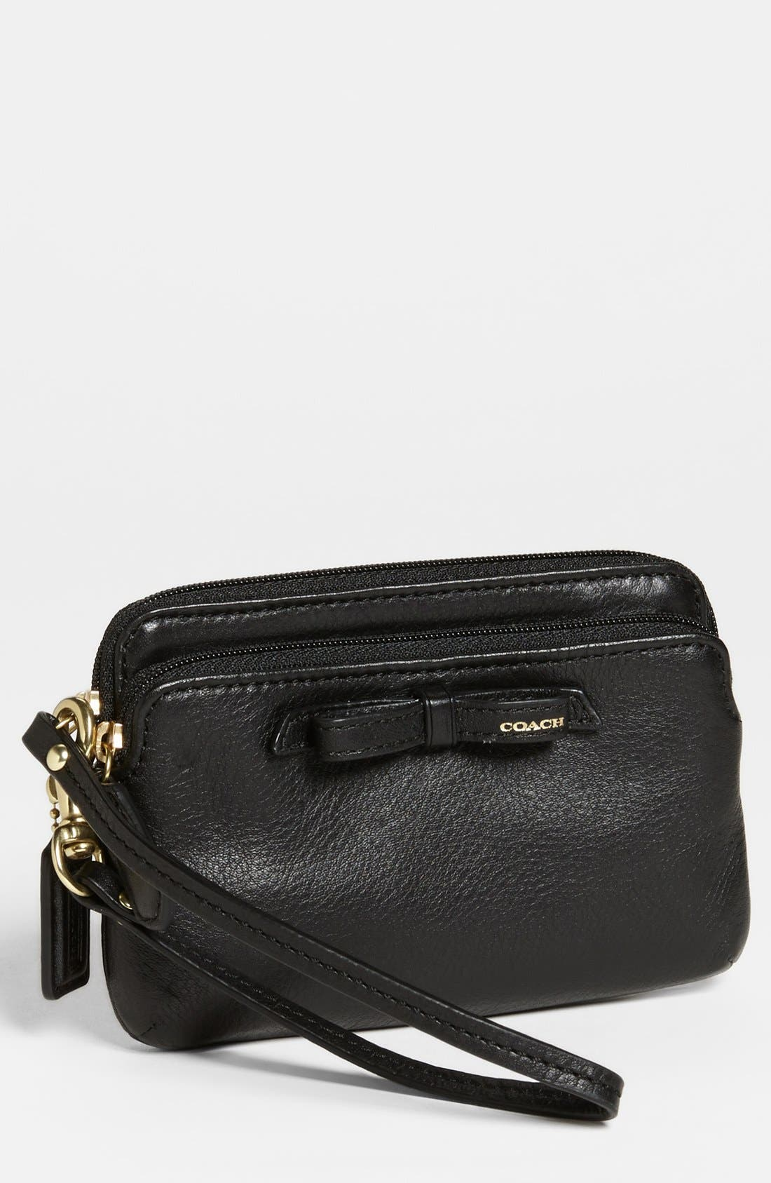 Alternate Image 1 Selected - COACH 'Poppy' Leather Wristlet