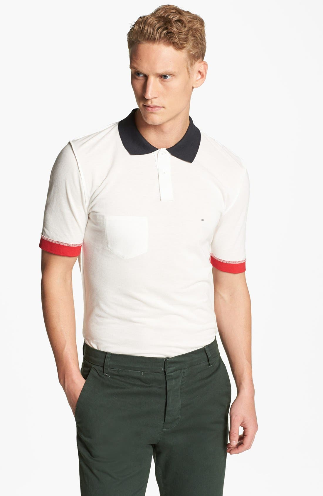 Main Image - Band of Outsiders Inside Out Piqué Polo