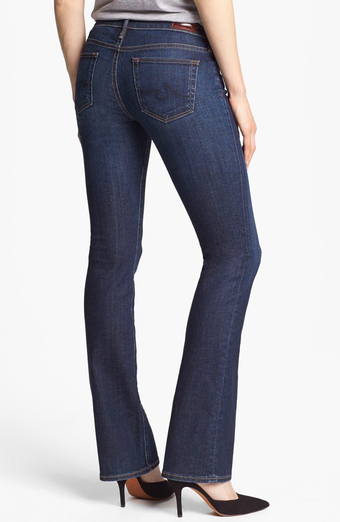 Alternate Image 2  - AG 'Olivia' Skinny Bootcut Jeans (Crest Blue)