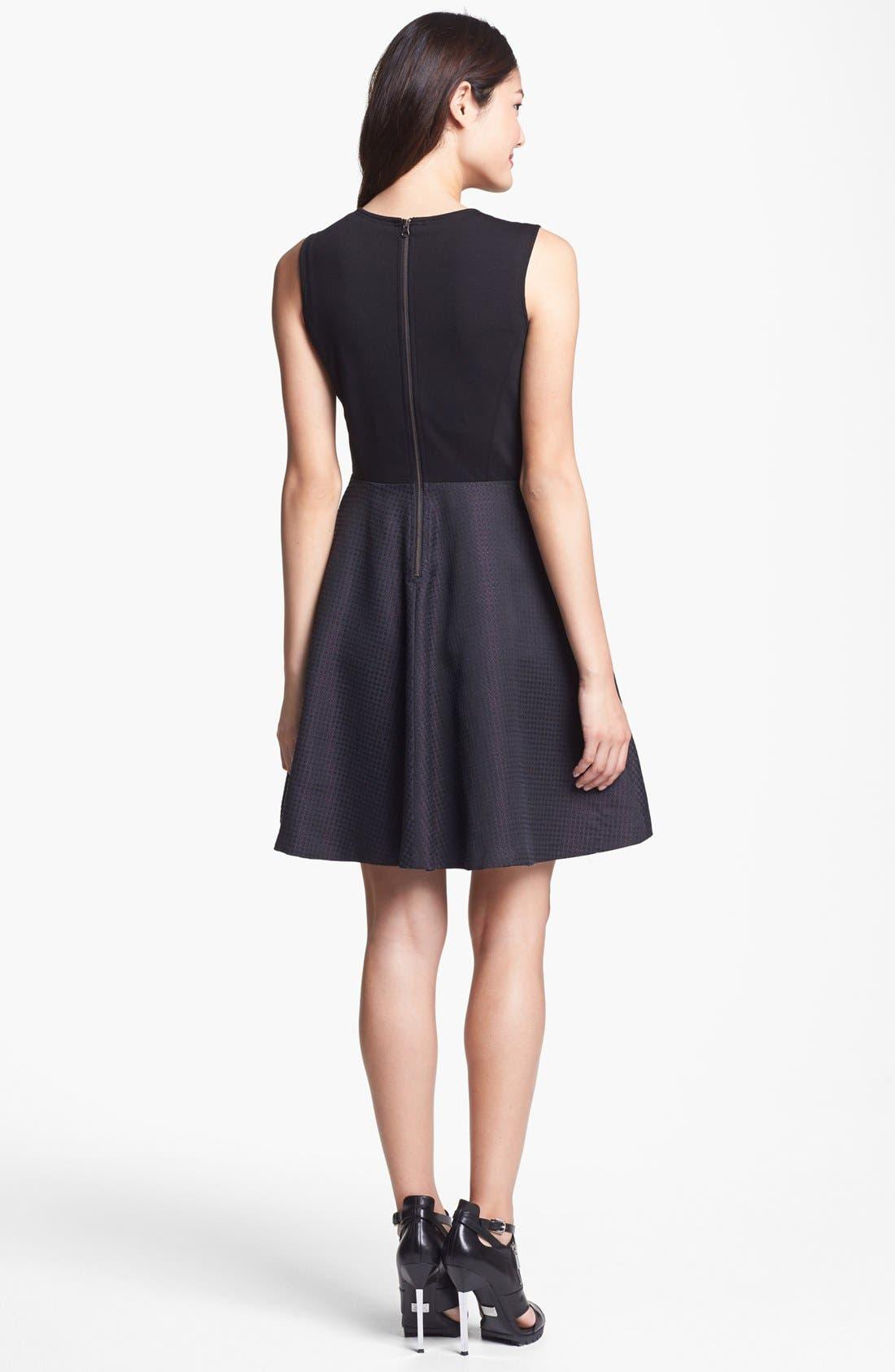 Alternate Image 2  - Halogen® Jacquard Fit & Flare Dress (Regular & Petite)