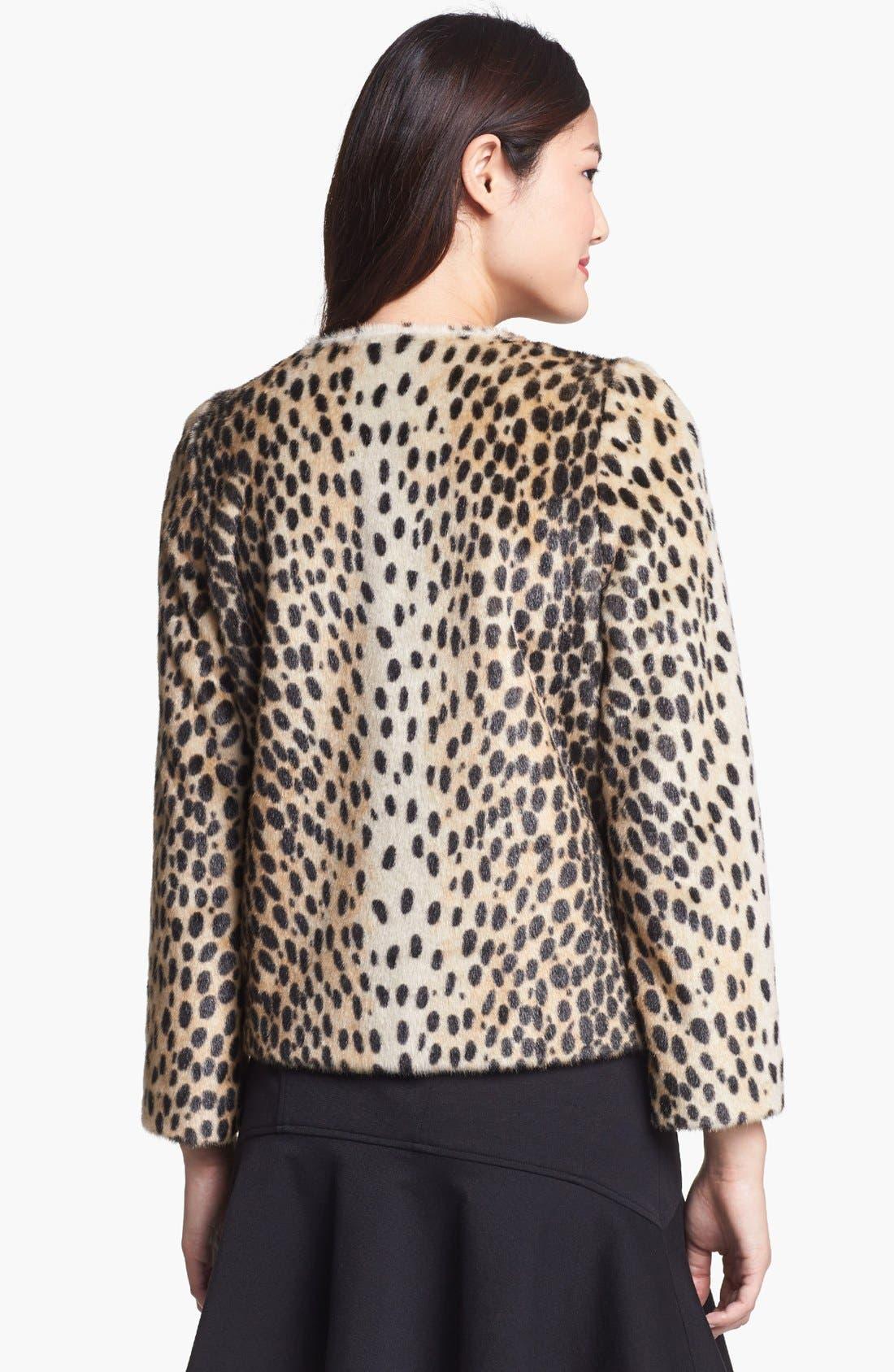 Alternate Image 2  - Kristen Blake Leopard Spot Faux Fur Jacket