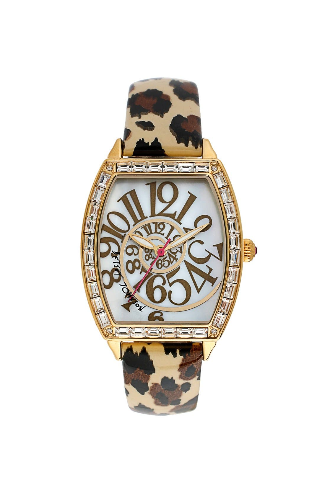 Alternate Image 1 Selected - Betsey Johnson Swirl Dial Watch, 37mm