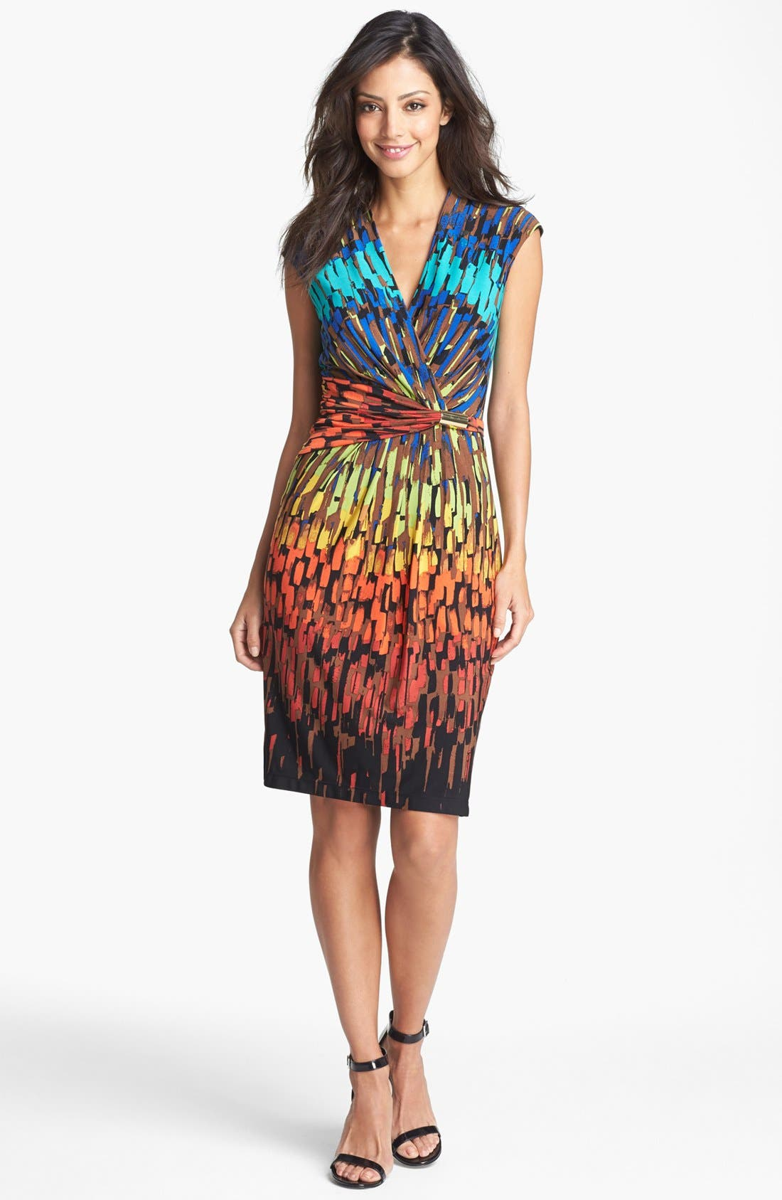 Alternate Image 1 Selected - Ellen Tracy Ruched Jersey Sheath Dress