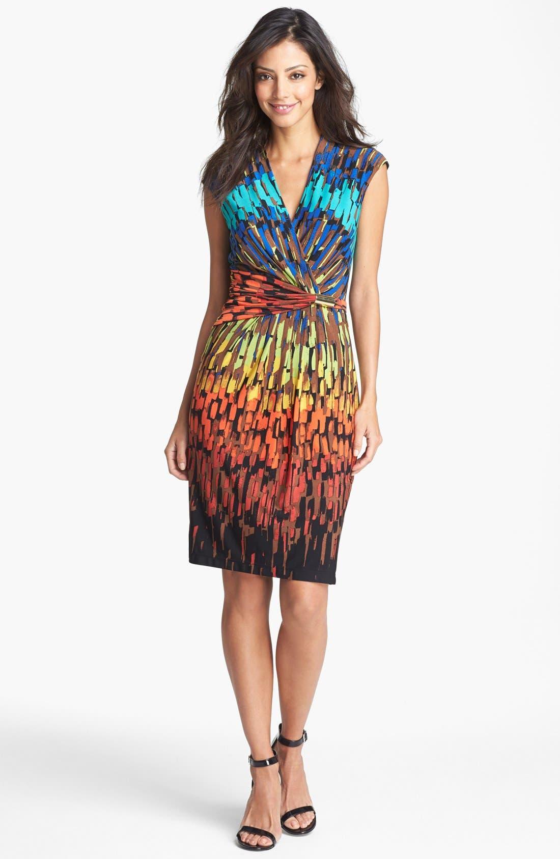 Main Image - Ellen Tracy Ruched Jersey Sheath Dress