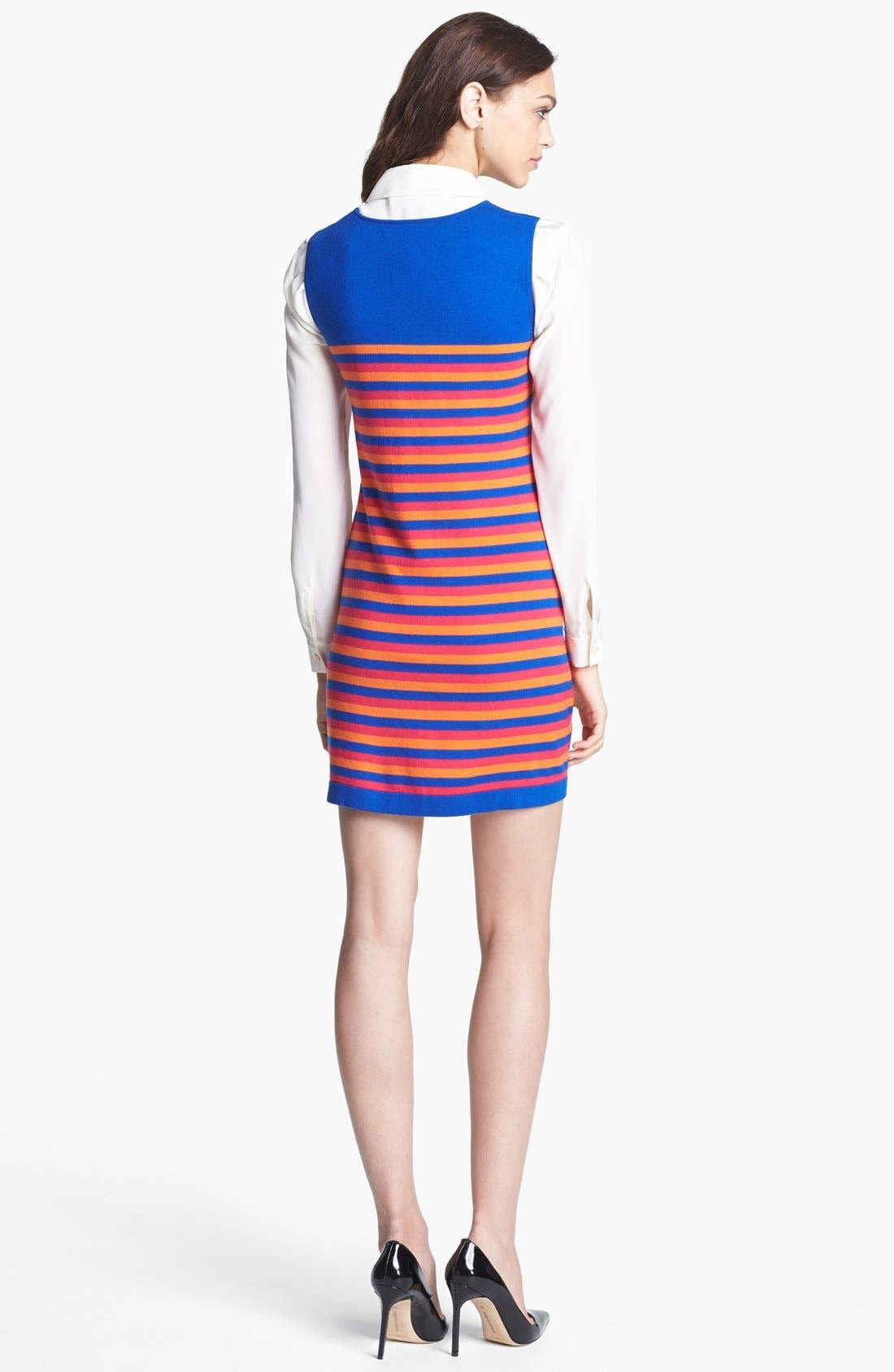 Alternate Image 2  - Miss Wu 'Kaki' Stripe Merino Wool Dress (Nordstrom Exclusive)