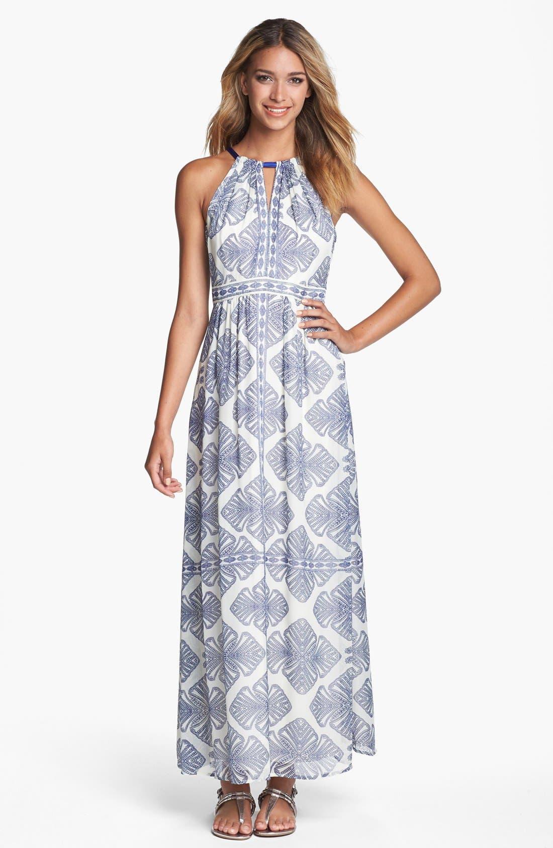 Alternate Image 1 Selected - Vince Camuto Print Cutaway Maxi Dress