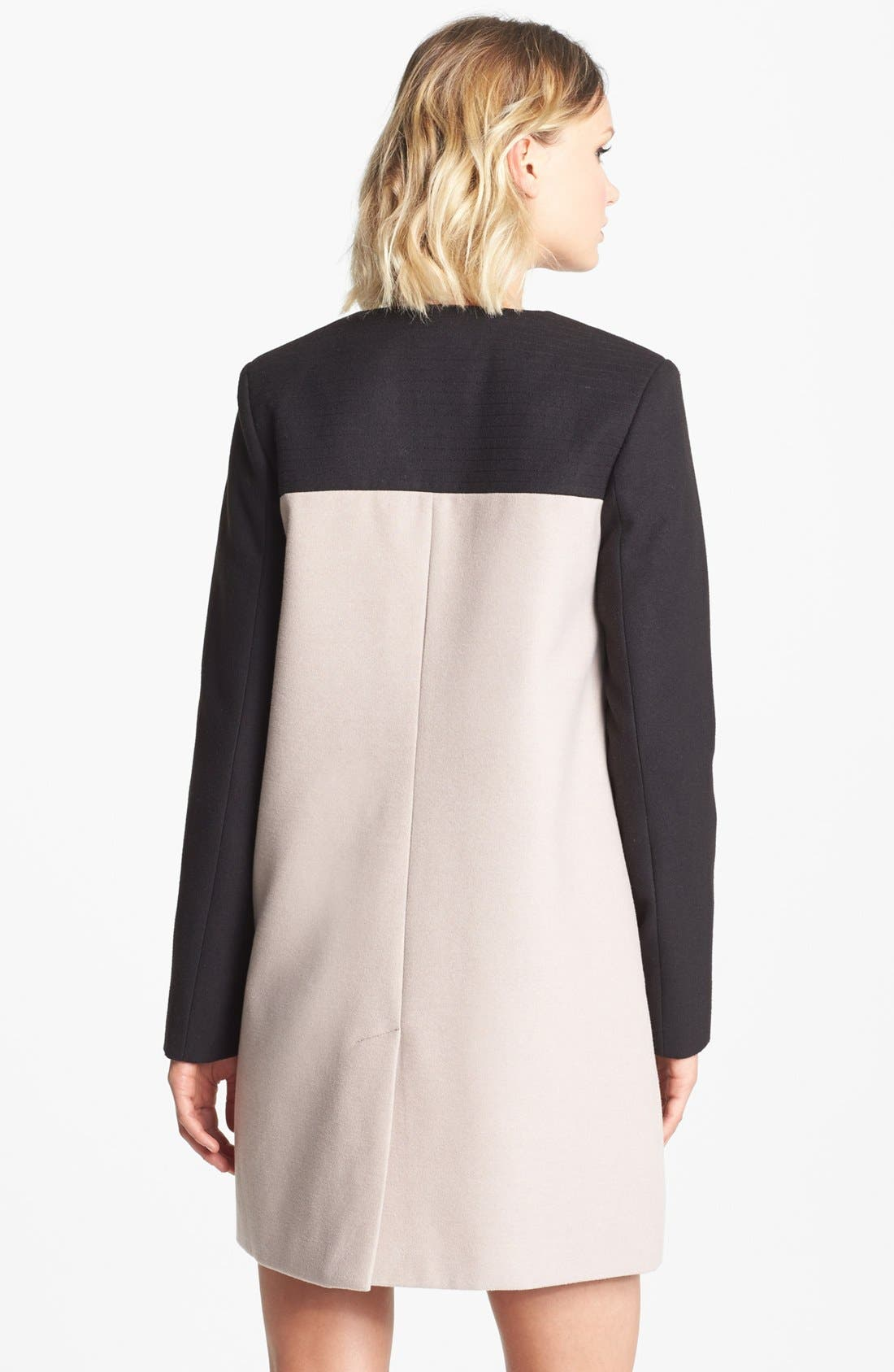 Alternate Image 2  - BB Dakota Collarless Colorblock Coat