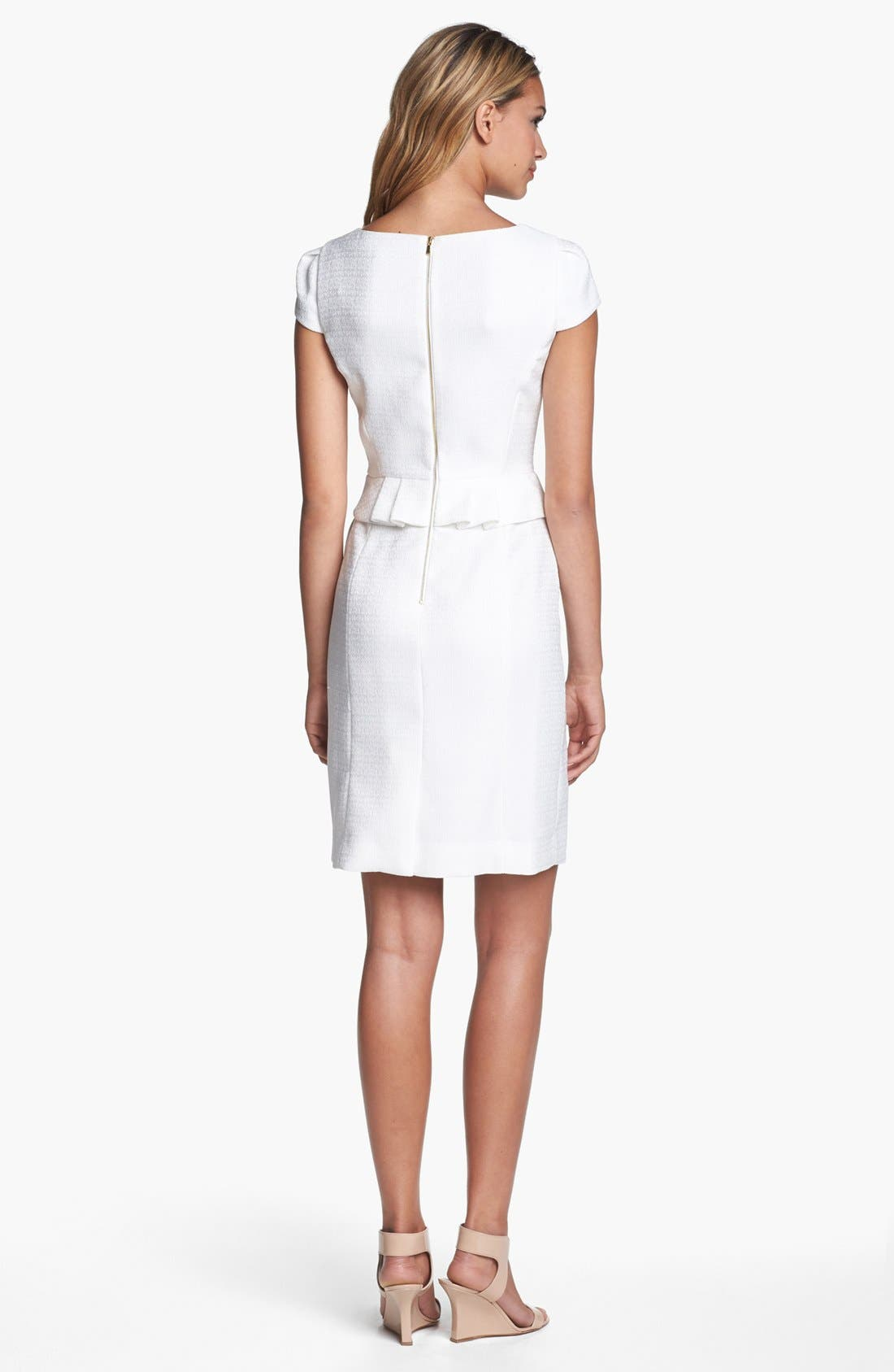 Alternate Image 2  - Tahari Jacquard Peplum Sheath Dress