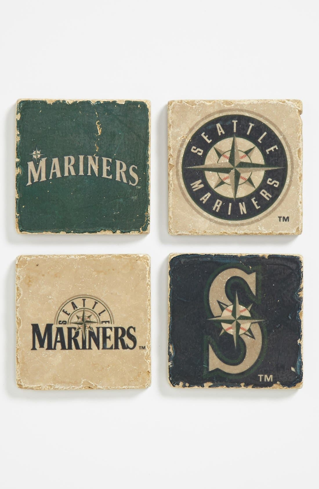 Alternate Image 1 Selected - 'Seattle Mariners' Marble Coasters (Set of 4)