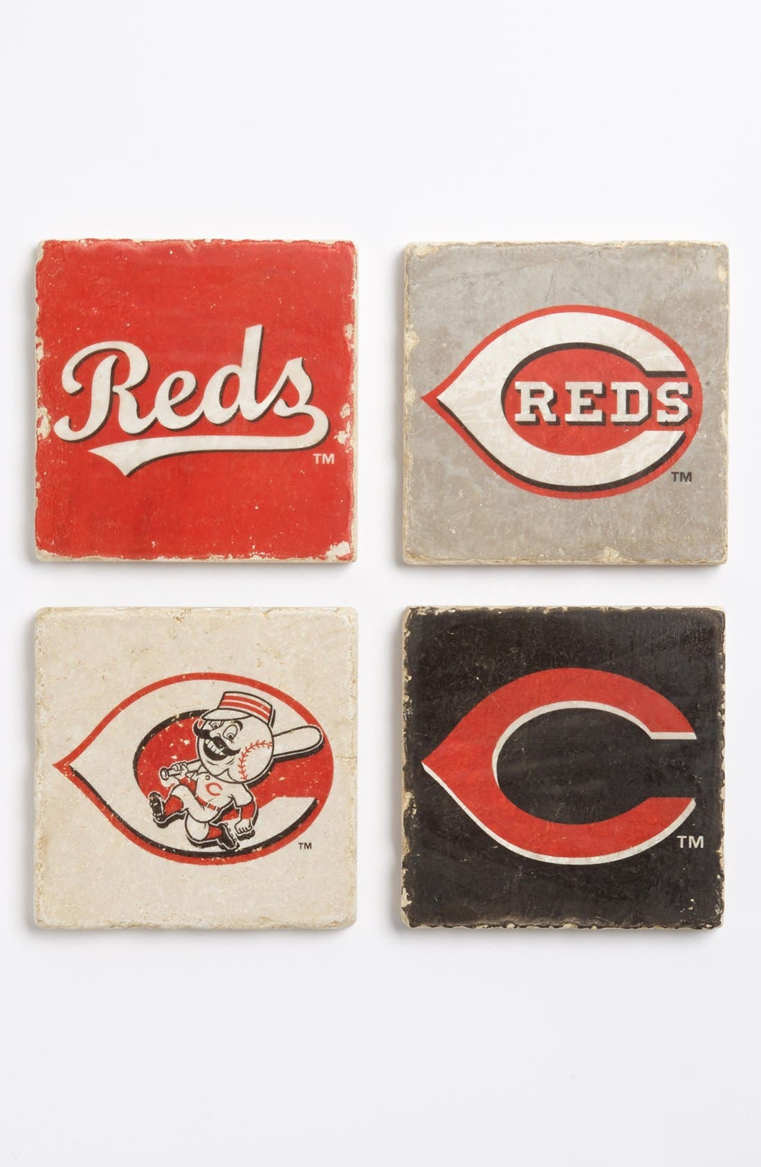 Alternate Image 1 Selected - 'Cincinnati Reds' Marble Coasters (Set of 4)