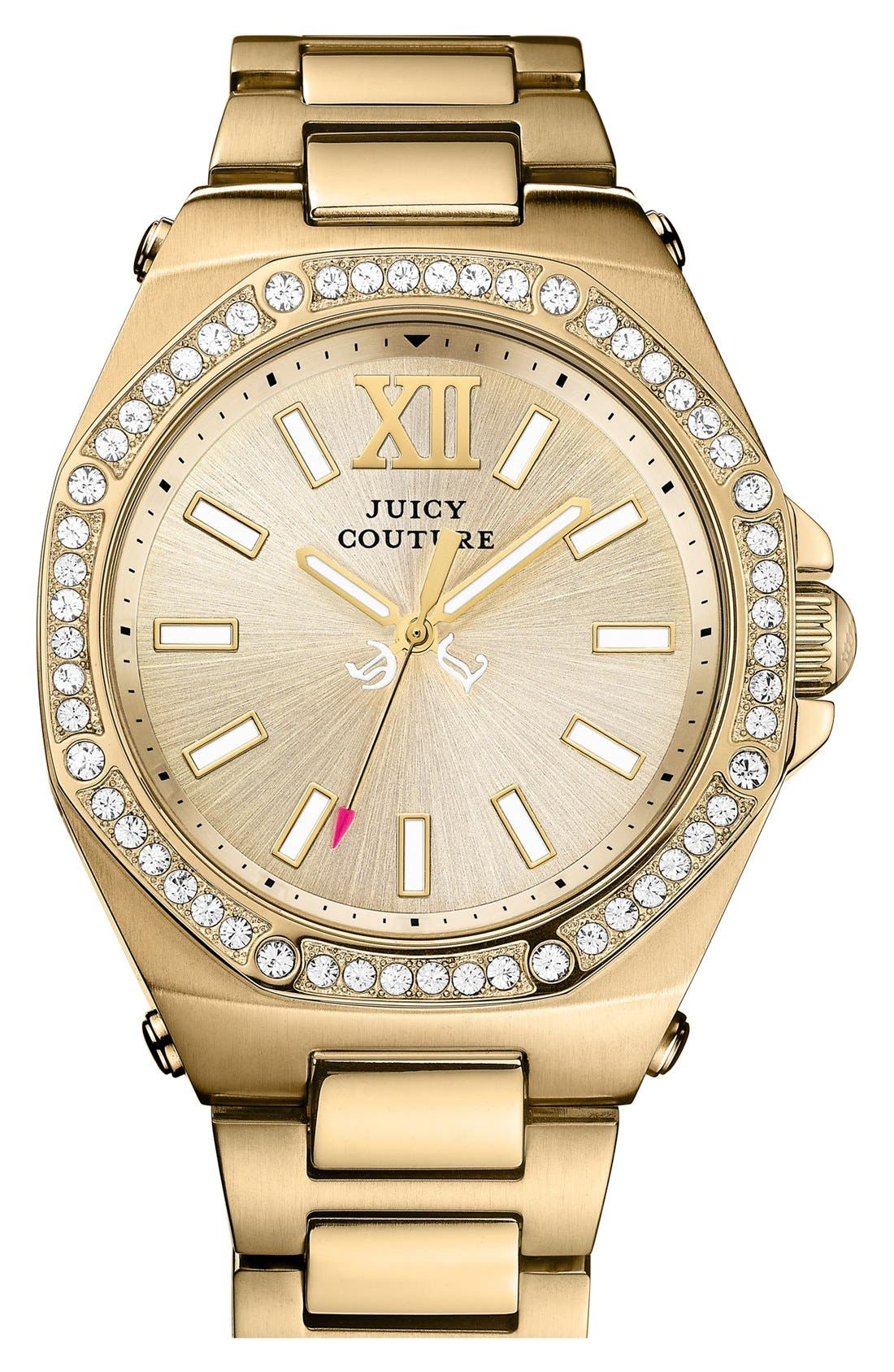 Alternate Image 1 Selected - Juicy Couture 'Chelsea' Octagonal Bracelet Watch, 42mm
