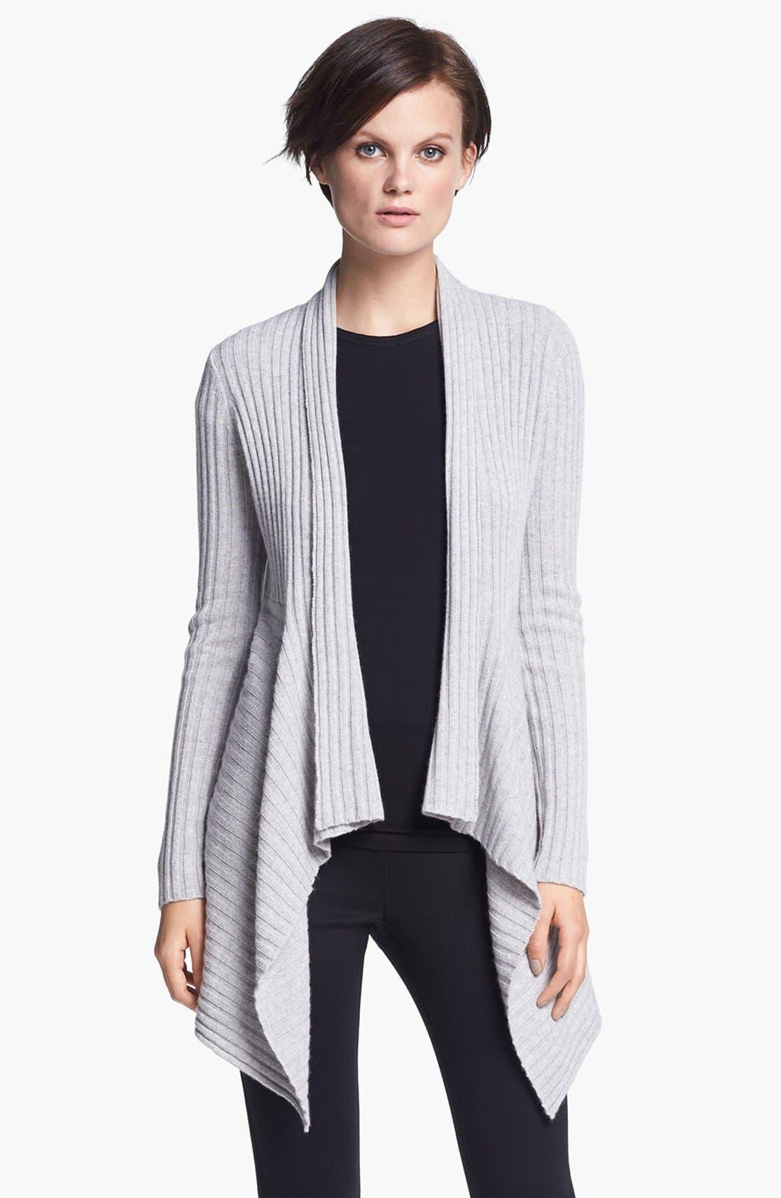Main Image - autumn cashmere Draped Rib Knit Cardigan
